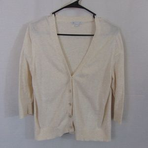*3/$25* GAP Cream 2/3 Sleeve Cardigan
